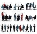 office-staff-silhouette-meeting-working-together-white-background-57572399